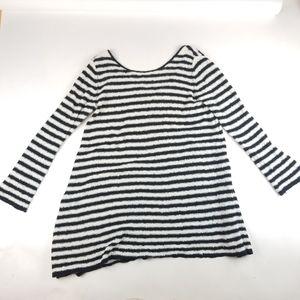 Free People Striped Knit Long Sweater Size L